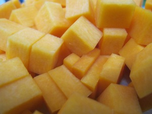butternut squash pasta - chopped squash 20-5-13