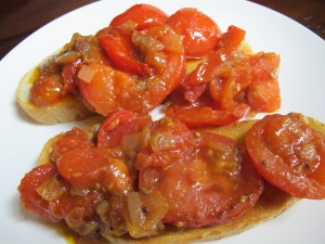 spiced tomatoes on toast 21-5-13