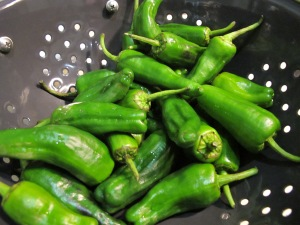 pimentos del padron - rinsed and dried 12-7-13