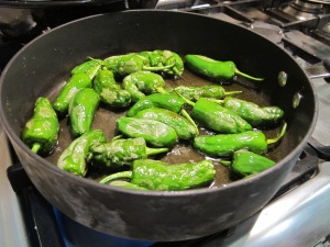 pimentos del padron - shallow fry 12-7-13