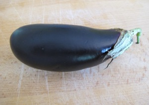 aubergine on wooden board 24-8-13