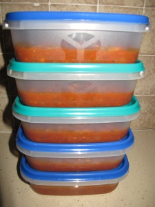 our best-ever tomato sauce - freezer boxes 10-8-13
