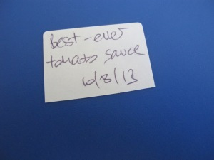 our best-ever tomato sauce - freezer label 10-8-13