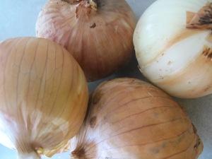roasted onion and rocket salad - Pablo's onions 15-7-13