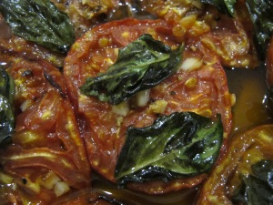 roasted tomato salad - close-up 9-8-13