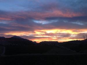 El Chorro sunrise1 22-10-13