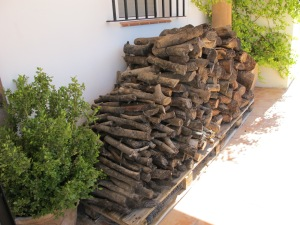 neat log pile by front door 9-10-13