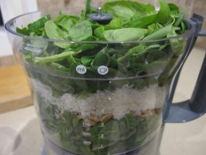 pesto ingredients in food processor 8-10-13
