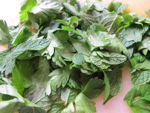 rinsed herbs 6-10-13