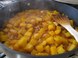 squash bubbling in the pan 21-10-13