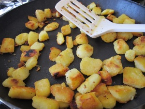 fried potatoes in the pan 14-11-13