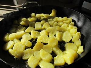 potatoes go into the frying pan 14-11-13