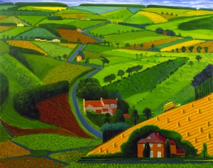 David Hockney RA: 'The Road across the Wolds'