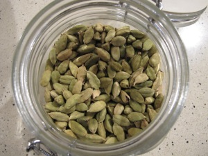 jar of cardamon pods 3-12-13