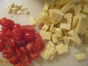 chopped cheese, tomato & garlic 16-2-14