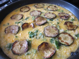 add extra courgettes to the pan 9-3-14