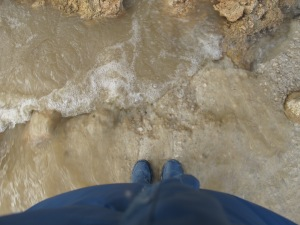 my feet on bridge after storm 26-3-13