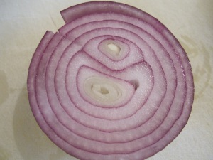 red onion - cut in half 2-3-14