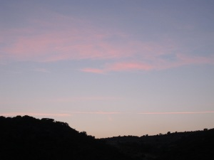#11 wispy pink sunset in a blue sky - photo David 17-8-13