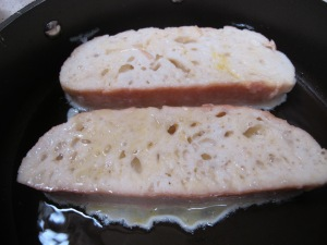 bread - two slices in frying pan 18-4-14