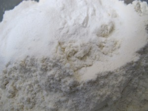 flour, sugar, baking powder - close-up 17-4-14