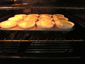 lemon curd muffins - in the oven 9-8-13