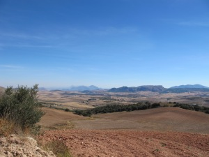 pink soil looking towards El Chorro 12-10-13
