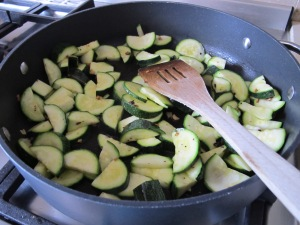 add courgettes to pan 22-5-14