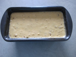 cake tin - ready to go into oven 21-5-14