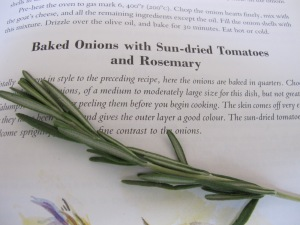 rosemary sprig & recipe page 22-6-14