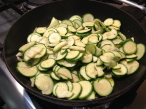courgettes in the pan 31-7-14