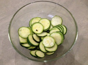 courgettes - marinating 24-7-14
