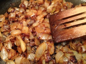 onions, frying browned 31-7-14