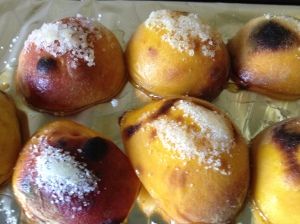 peaches, grilled close-up 24-7-14