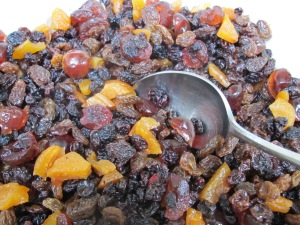 dried fruit, soaked 24-9-14