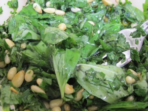 salad mixed with pine nuts 24-9-14