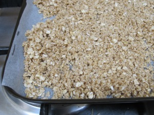 granola topping - ready to go into the oven 20-10-14
