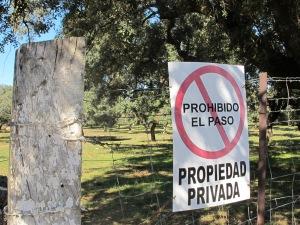 prohibido el paso - sign 10-10-14