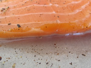 salmon - marinating 27-1-15