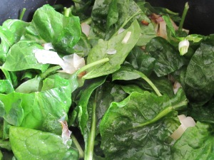 add spinach to the onions 11-4-15