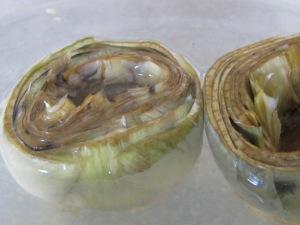 artichokes, in lemon water 18-4-15