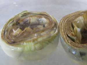 artichokes, in lemon water 18-4-15