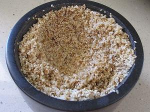 sesame seeds, paste in mortar 25-7-15