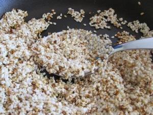 sesame seeds, toasting 25-7-15