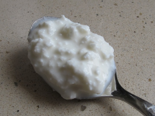 goat cheese, spoonful