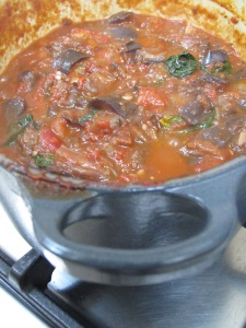 tomato sauce, thick