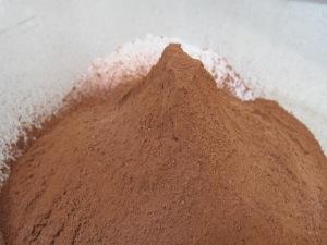 cocoa powder, added