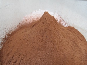 cocoa powder, added