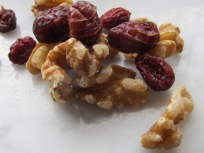 cranberries & walnuts