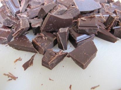 80% cocoa chocolate, chopped